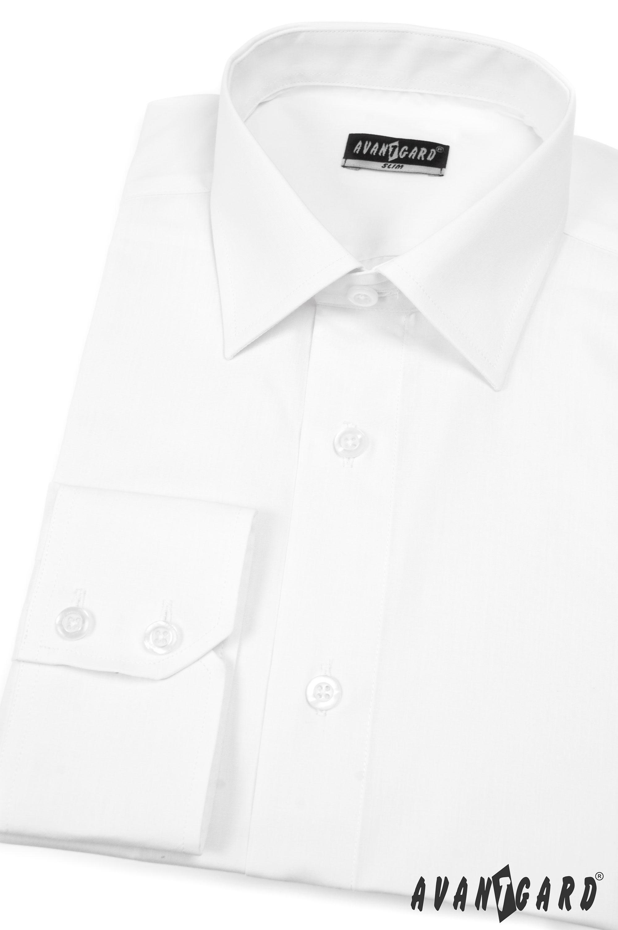 d5d1f761a8f Avantgard pánská košile SLIM dl. rukáv 114-1 barva bílá