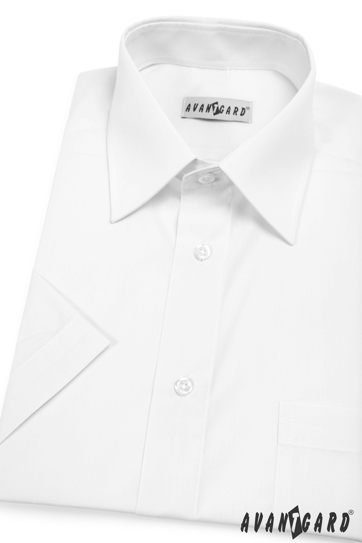 Avantgard pánská košile Klasik krátký rukáv 351-1 barva bílá