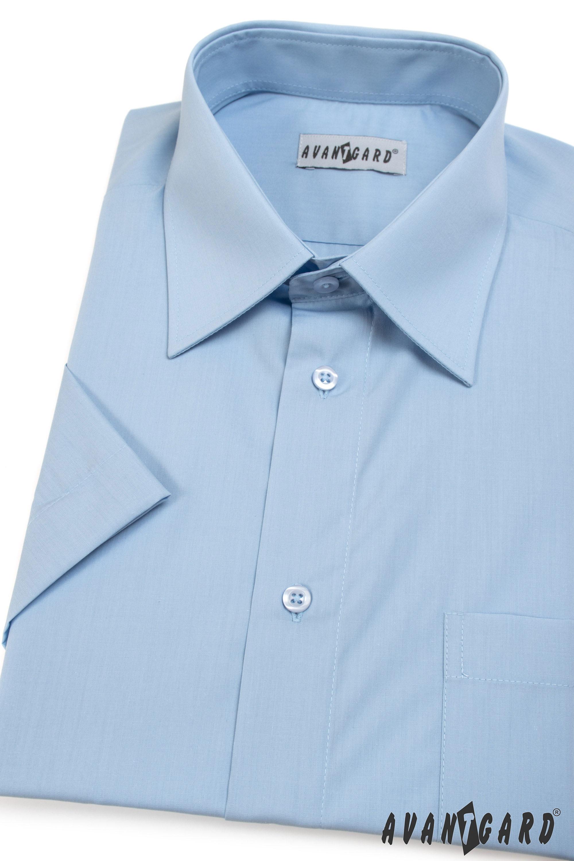 Avantgard pánská košile Klasik krátký rukáv 351-15 barva modrá