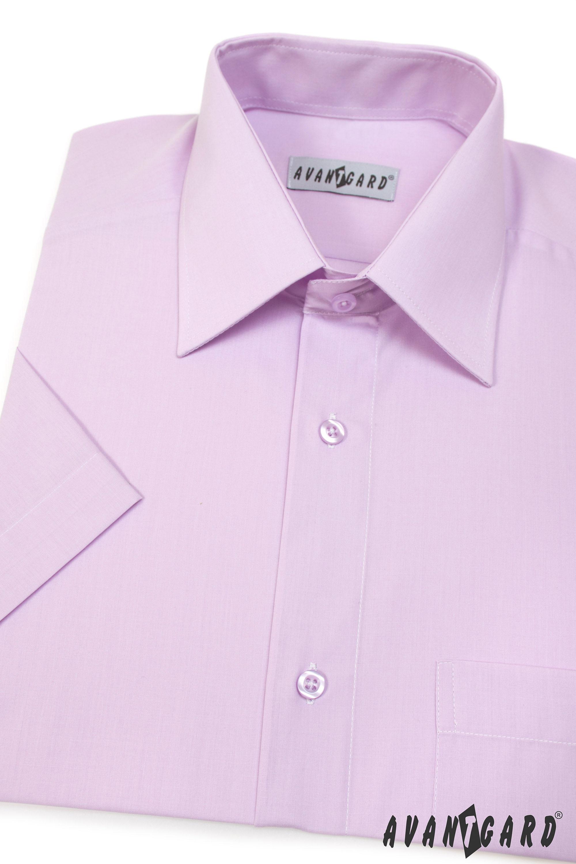 Avantgard pánská košile Klasik krátký rukáv 351-33 barva lila