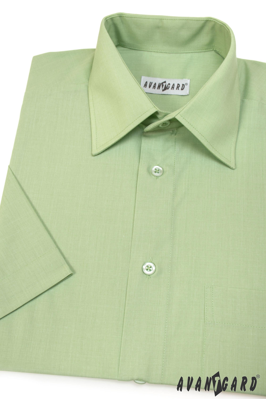 Avantgard pánská košile Klasik krátký rukáv 351-8 barva zelená