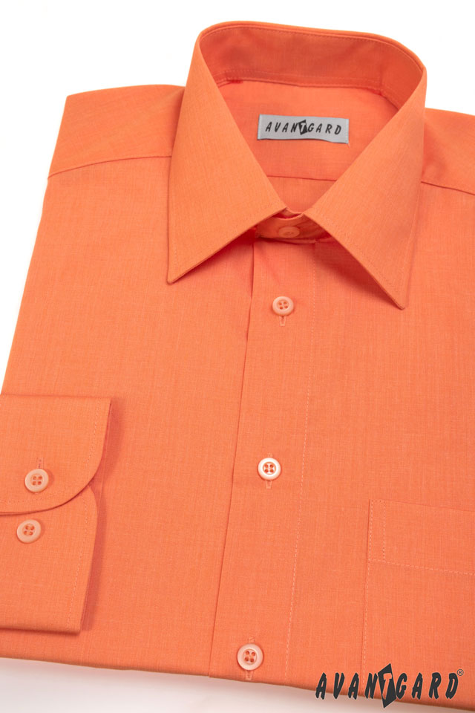 Avantgard pánská košile Klasik dlouhý rukáv 451-10 barva pomerančová