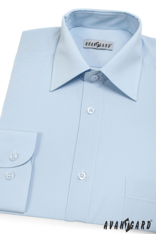 Avantgard pánská košile Klasik dlouhý rukáv 451-15 barva modrá