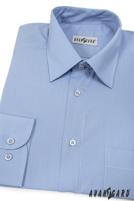 Avantgard pánská košile Klasik dlouhý rukáv 451-16 barva středně modrá