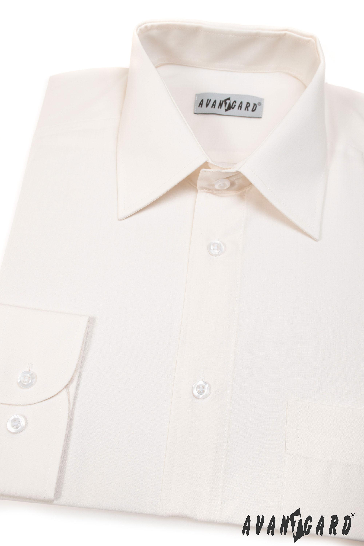 Avantgard pánská košile Klasik dlouhý rukáv 451-2 barva smetanová