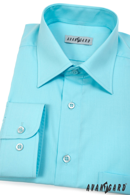 Avantgard pánská košile Klasik dlouhý rukáv 451-25 barva tyrkys