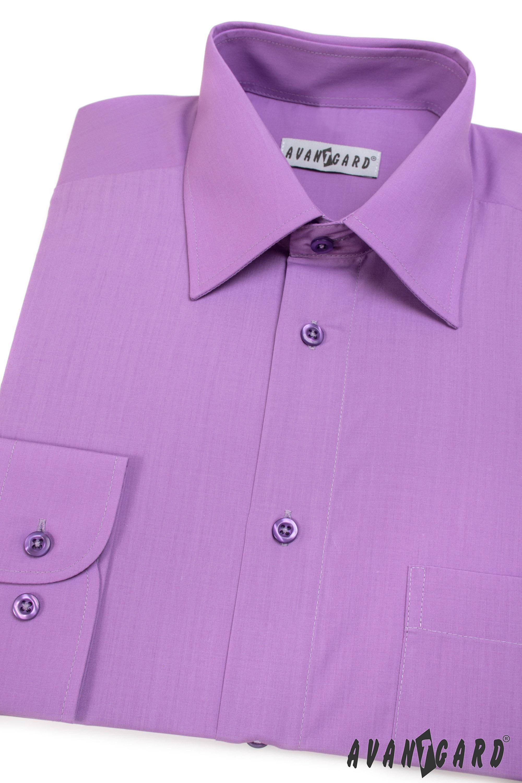 Avantgard pánská košile Klasik dlouhý rukáv 451-38 barva fialová