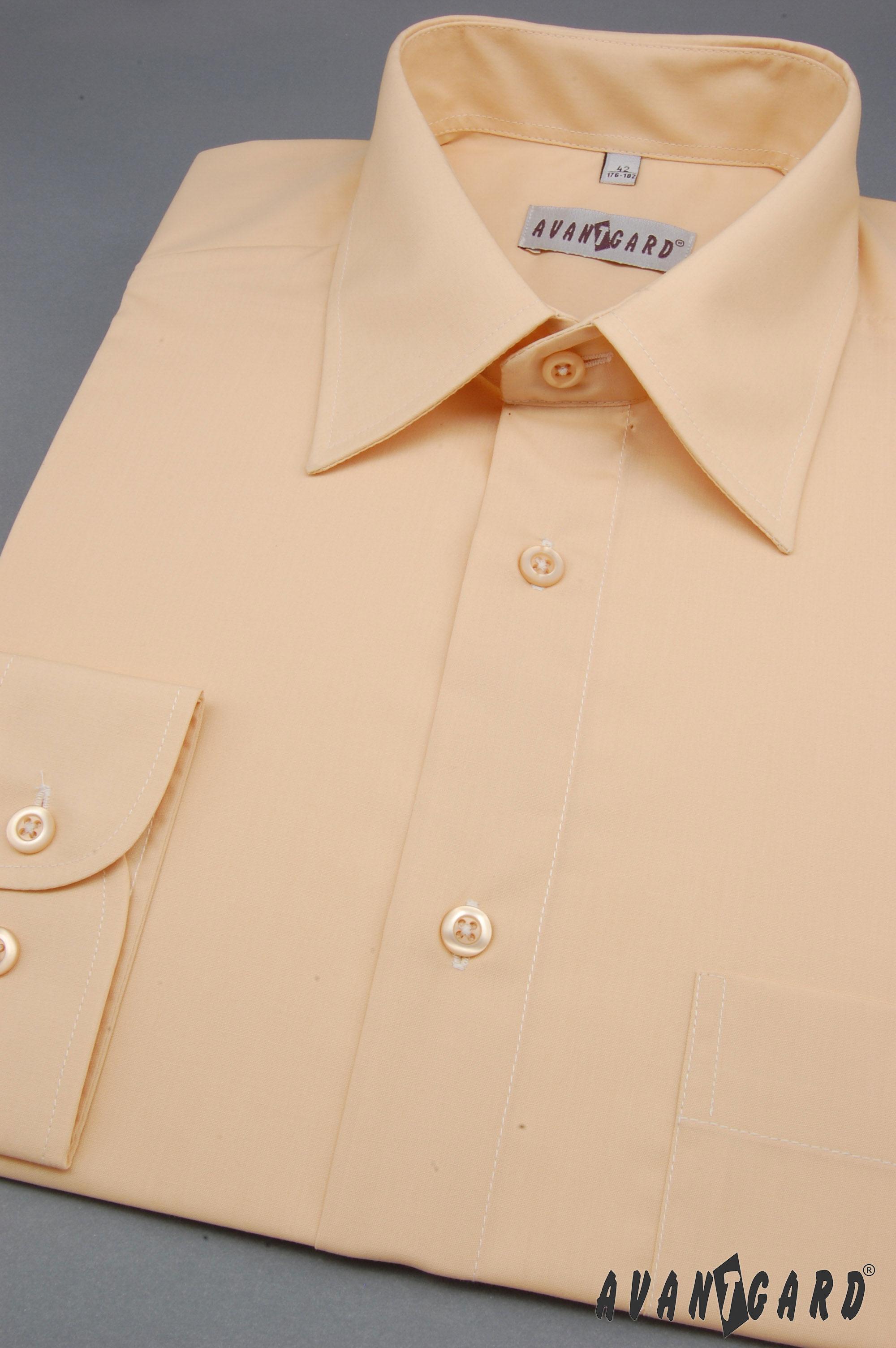 Avantgard pánská košile Klasik dlouhý rukáv 451-4 barva lososová