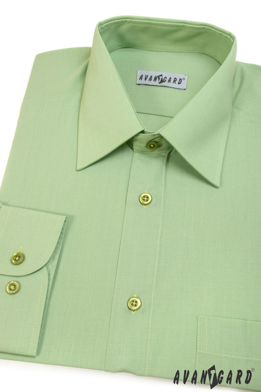 Avantgard pánská košile Klasik dlouhý rukáv 451-8 barva zelená
