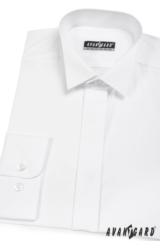 Avantgard pánská košile Frakovka dlouhý rukáv 454-1 barva bílá