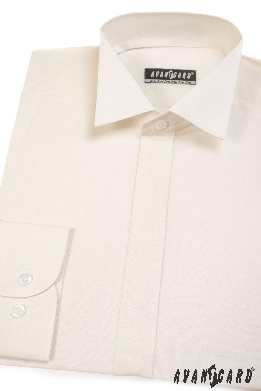 Avantgard pánská košile Frakovka dlouhý rukáv 454-2 smetanová