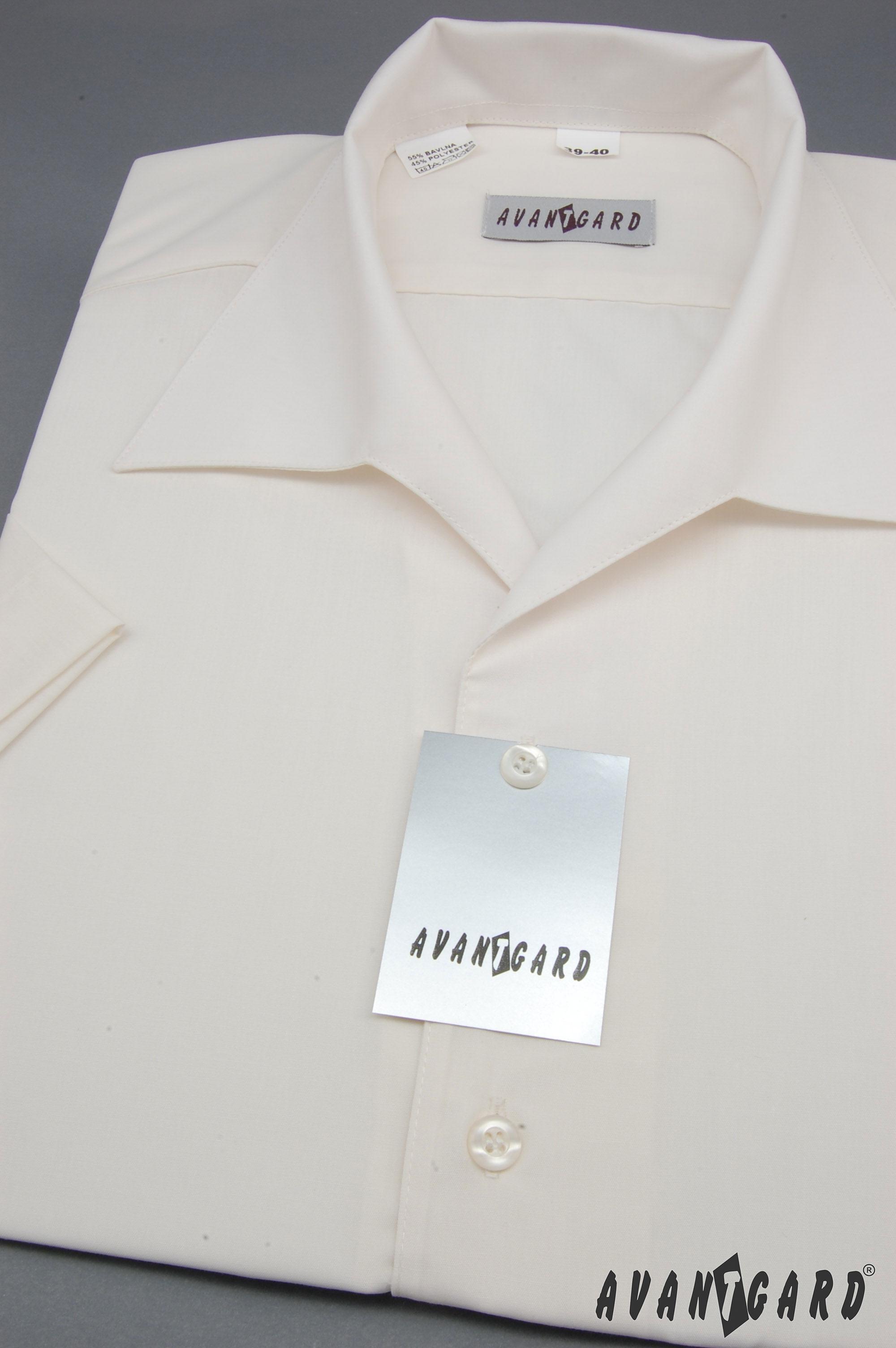 Avantgard pánská košile rozhalenka krátký rukáv 456-2 barva smetanová 4496400299