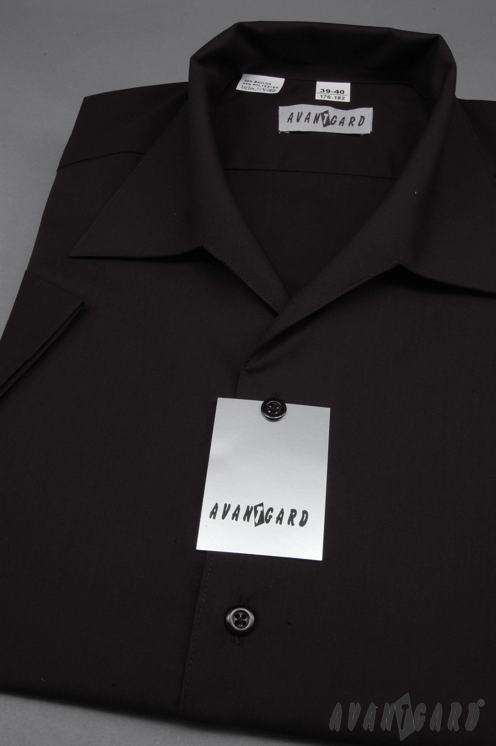97c019f4bfa Avantgard pánská košile rozhalenka krátký rukáv 456-23 barva černá