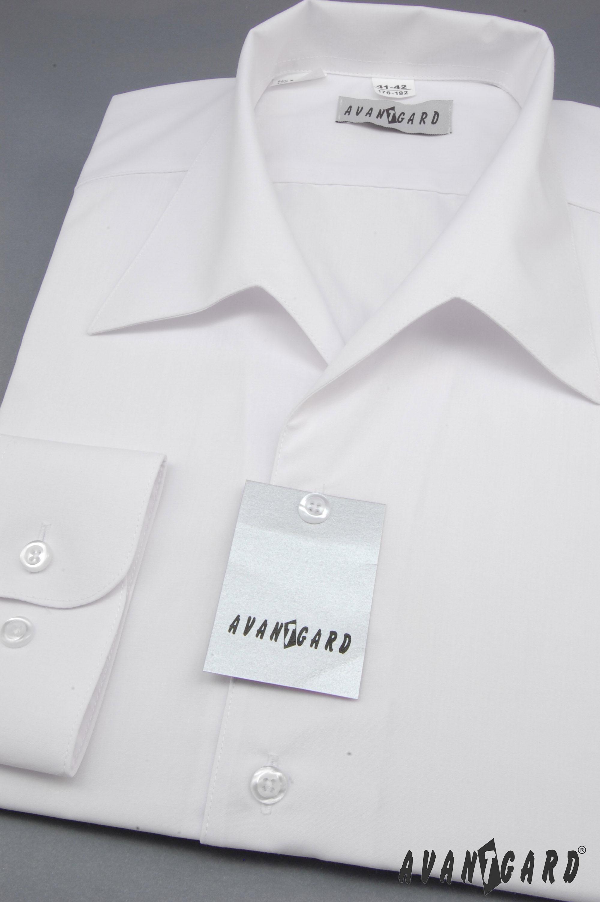 5fa264b5901 Avantgard pánská košile rozhalenka dlouhý rukáv 457-1 barva bílá