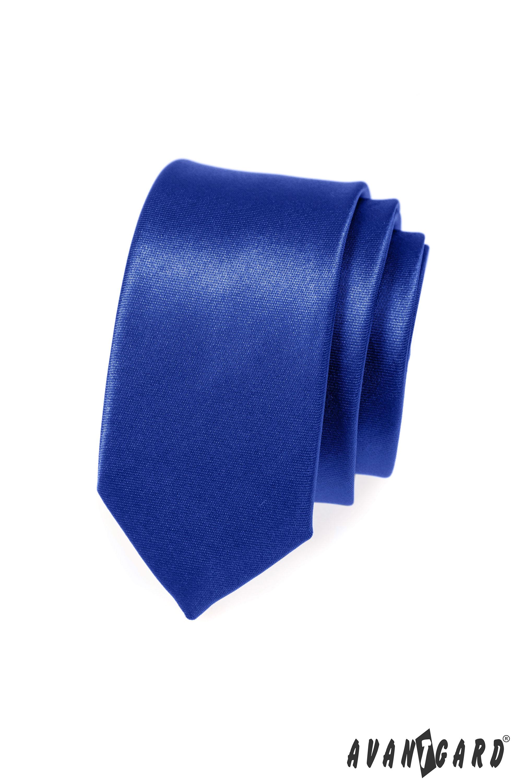Avantgard kravata SLIM 573735 Modrá
